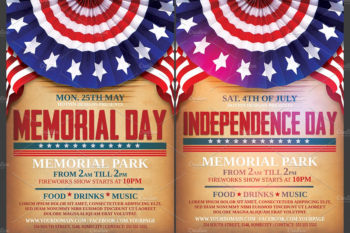independencememorial day flyer flyer templates creative market