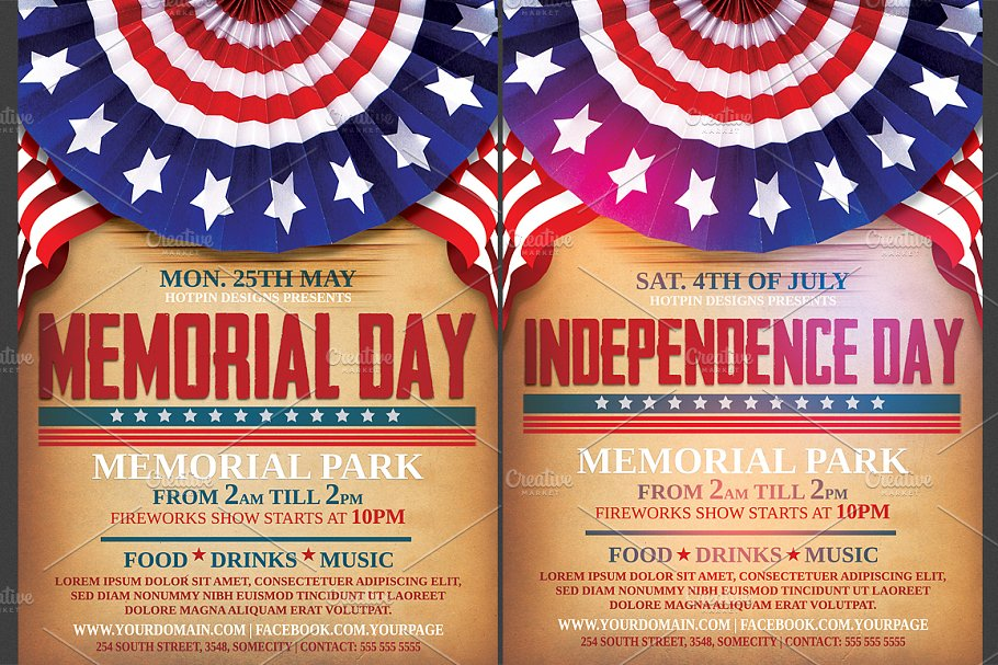 independence memorial day flyer flyer templates creative market pro