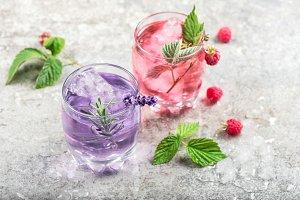 Drink raspberries lavender flower
