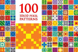 One Hundred 10x10 Pixel Patterns