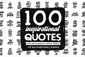 100 inspirational quotes.