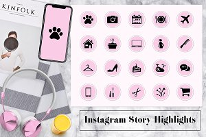 Pink Lifestyle Instagram Covers