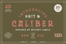 Grit & Caliber - Vintage Bundle by  in Serif Fonts
