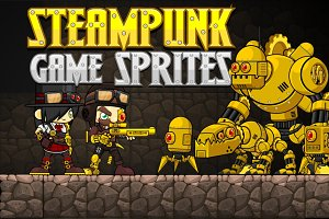 Steampunk Game Sprites