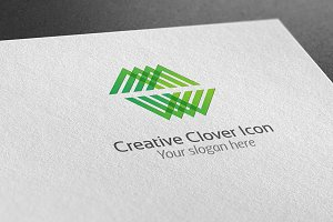 Creative Clover Icon Logo