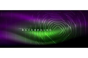 Neon glowing lines, magic energy
