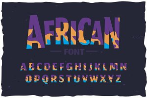 OTF color font! Funny african style