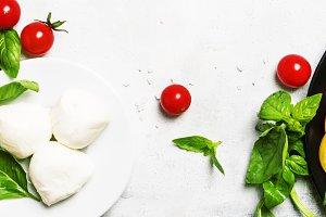 Ingredients for prepared spring sala