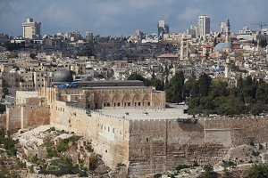 Holy City of Jerusalem.The Al-Aqsa M