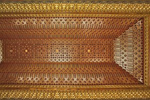 Ceiling in the medieval Spanish pala