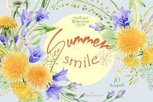 Summer smile - Watercolor Bouquets
