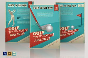Golf. Vintage, retro poster or flyer