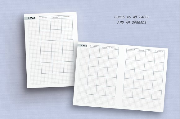 Daily, Weekly, Monthly - Hobonichi in Stationery Templates - product preview 5