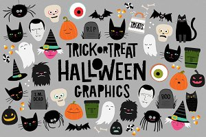 TrickorTreat Halloween Illustrations