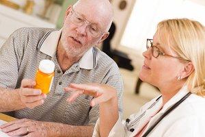 Doctor or Nurse Explaining Prescript