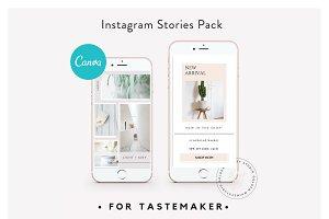 CANVA Insta Stories for Tastemaker