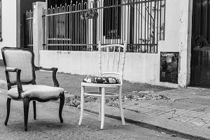 Vintage Chairs Black and White