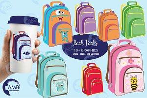 Backpack Clipart, AMB-974