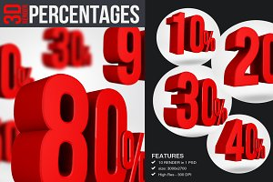 Percentages - 3D Render