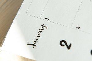 white paper of calendar
