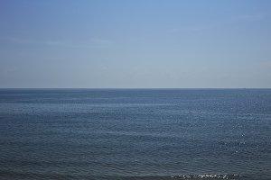 beautiful seascape sea horizon and b