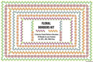 Floral Border Brushes and Frames