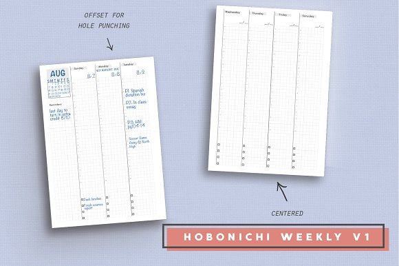 Daily, Weekly, Monthly - Hobonichi in Stationery Templates - product preview 2