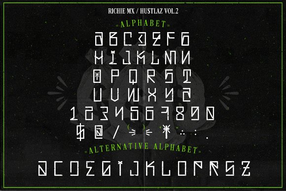 Hustlaz (Tattoo Font) in Blackletter Fonts - product preview 2