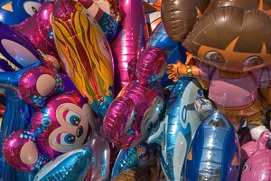 Balloons and toys