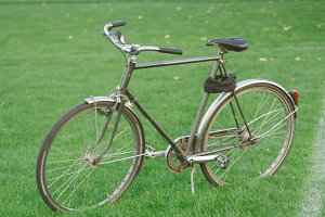 Vintage bike on grass