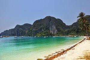 Beach paradise on island Phi-Phi