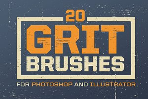 Grit Photoshop & Illustrator Brushes