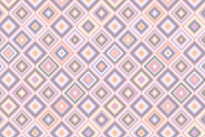 Pastel aztec patterns set, vector
