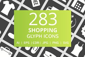 284 Shopping Glyph Inverted Icons