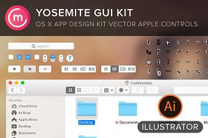Yosemite GUI for illustrator