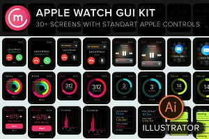 Apple Watch GUI for illustrator