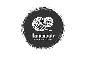 Handmade line vintage logo