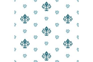 Seamless Vector Pattern With Royal