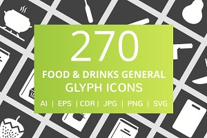 270 Food & Drinks General Glyph Icon
