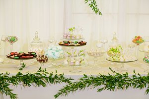 Sweet table at the wedding celebrati