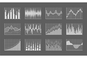 Business Charts Collection Vector
