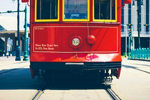 New Orleans Red Cable Car