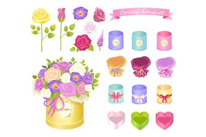 Spring Bouquet Collection Vector