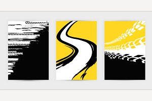 Grunge Tire Posters Set