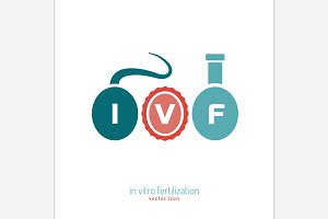 In vitro fertilisation icon
