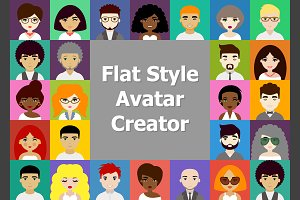 Flat Male and Female Avatar Creation