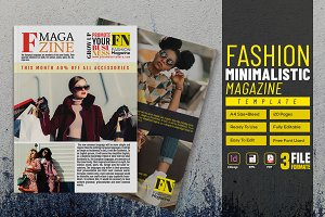 Fashion Minimalistic Magazine