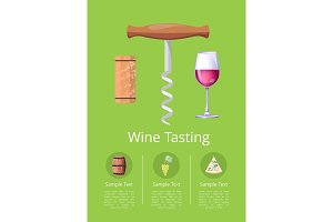 Wine Tasting Promotional Poster with