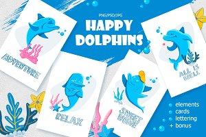 Happy Dolphins.