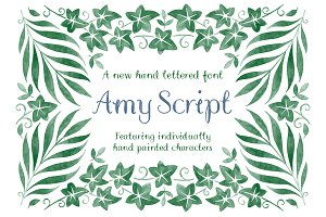Amy Script Hand Lettered Font